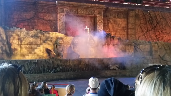 At an Indiana Jones Adventure show!