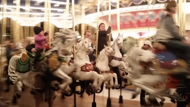 riding the carousel like I'm riding a valkyrie?