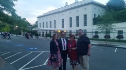 And that's the White House right behind us!