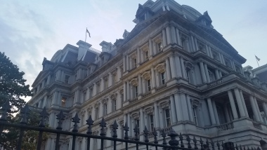 The Dwight D Eisenhower Executive Office Building - the building within the White House complex where we saw the film!