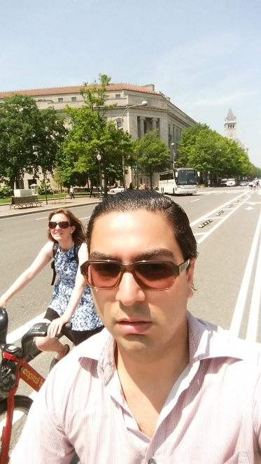 Making use of DC's bike lanes!