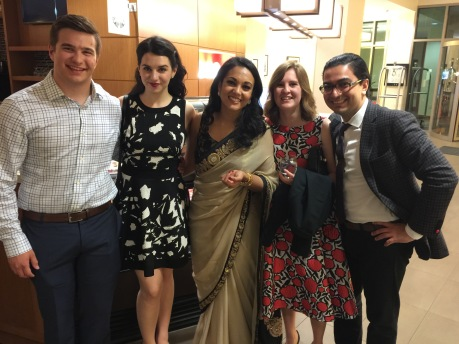 At the post-film reception with Noah, Taylor, Komal, me, and Kevin
