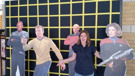 Hanging out with the Captains at the CNE's Star Trek exhibit