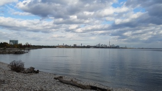 The view when we run along the waterfront.