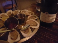 Buck a shuck oysters at Chantecler quickly escalated.