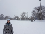 Trekking through Trinity Bellwoods Park after our latest snow fall