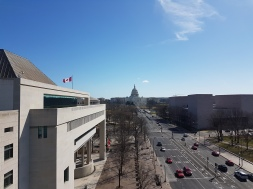 The Canadian Embassy was right next door to the Newseum