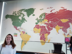 In front of the press freedoms map