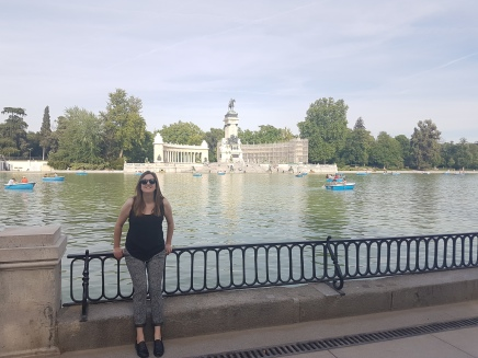 the lake in Retiro Park!