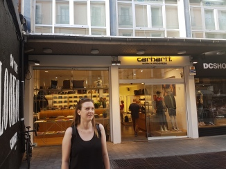 This is one of our favourite discoveries. Carrhart has a luxury retail brand in Spain!!!
