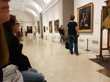 Spying on a painter in the Museo del Prado