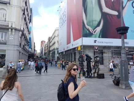 Continuing our walk through the many plazas of Madrid
