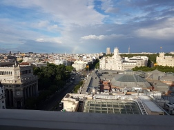 View from the rooftop of the Circulo de Bellas Artes