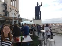 Up on the rooftop of the Circulo de Bellas Artes