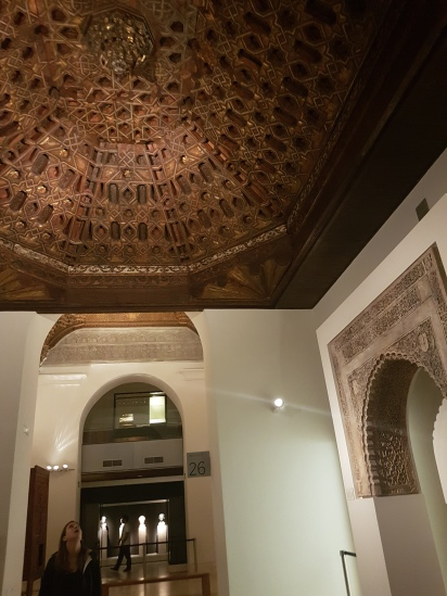 This was the best part in my opinion. This ceiling was restored from a building for worship from apprx 500 years ago