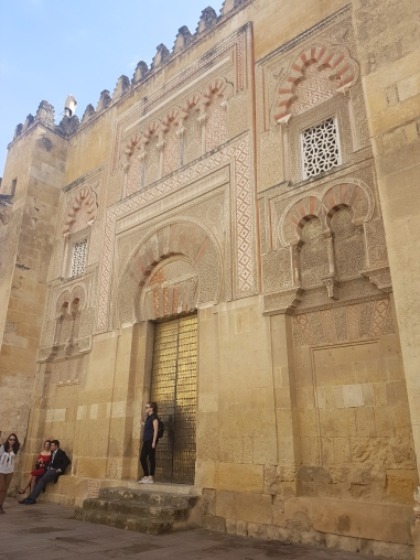 Standing outside the walls of the Mezquita on our first day in Cordoba!