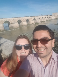 Selfie with an old Roman bridge!