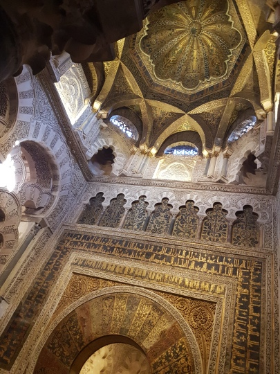 The Mihrab, a niche to show the direction of prayer, as well as a beautiful expample of Byzantine art.