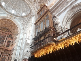 The organ and choir space in the Basilica