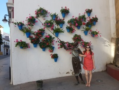 Flower art on the streets of Cordoba!