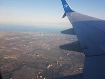 In the air! Bye Madrid!