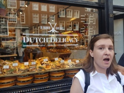 "Our next stop was Dutch Delicacy, a place inspired by ""Eataly"". It's part grocery store, part deli, part trendy shop. We tried the cheeses, which were amazing!"