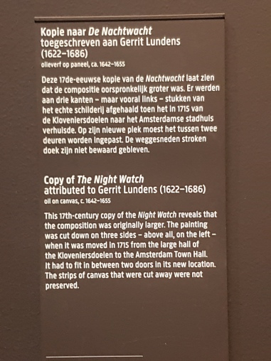 The Night Watch is so popular that museum even includes a copy of the original... and they keep it near the original!