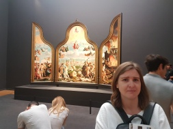 Triptychs were also quite popular in the Netherlands, including this classic piece