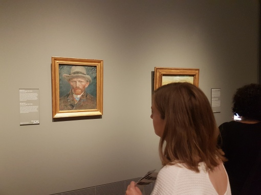 ... then I realized that we'd missed some pretty key stuff, so we made our way back inside to see this Van Gogh classic!