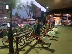 Bike share beside the taco place!