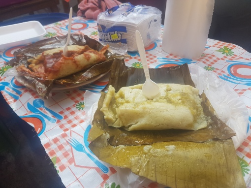 Starting off the day with tamales for breakfast!
