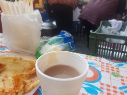 And a special warm oat drink, atole!