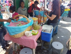 """They're called """"tacos de canasta"""" or """"basket tacos"""" because that's how they're carried out for selling!"""