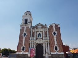 The church in Tlaxcala