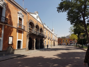 Entering the Tlaxcala City Hall