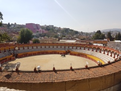 A quick stop at a bull fighting arena!