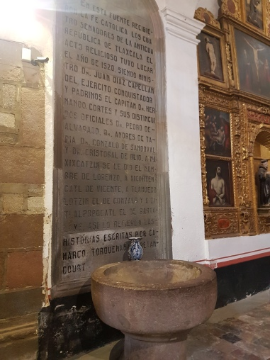 Here is where the 4 leaders of this region were baptised once the Spanish forced them to convert to Catholicism.