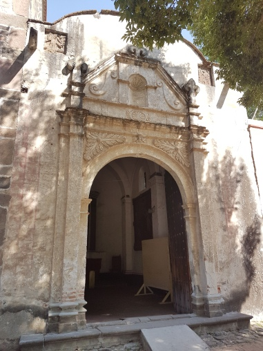 This is the entrance to the oldest part of the church