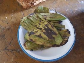 fried cactus with lemon juice - delish!