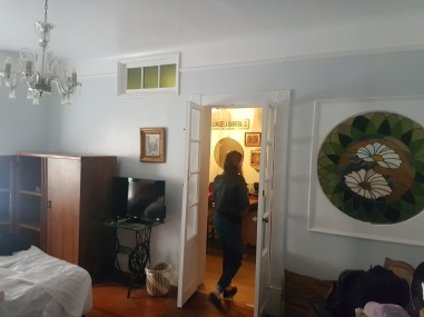 Our room was the cutest. A great bed, cut chairs, beautiful paint colours and art on the wall. Tons of room for storage too! Just off our room is our private kitchen and bathroom.