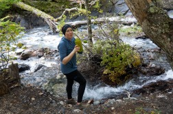 Drinking right out of a glacier stream (Robin)