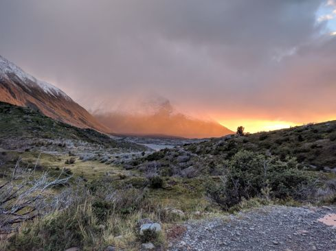 Awake before the sun at Paine Grande