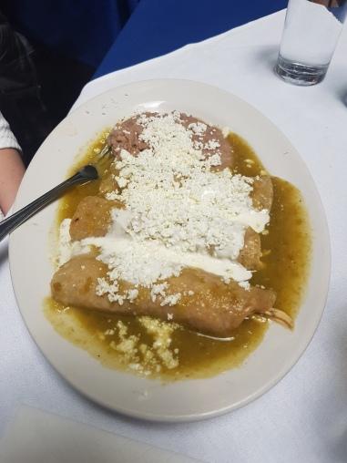 Lunch at Cafe de Tacuba - enchiladas!