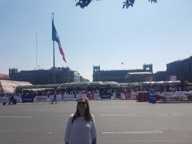 That's the Zocalo & its market behind me