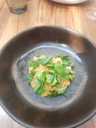 Rice, geoduck clam, scallop, mulato