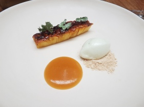 Roasted pineapple, molasses, cilantro
